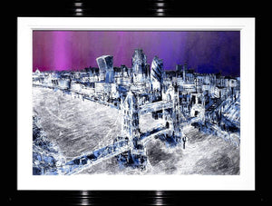 Twilight Skyline - Original Simon Wright Framed