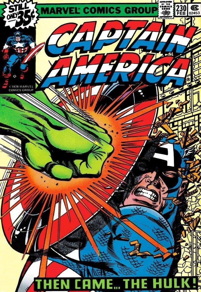 Captain America #230 - Then Came…The Hulk! Stan Lee