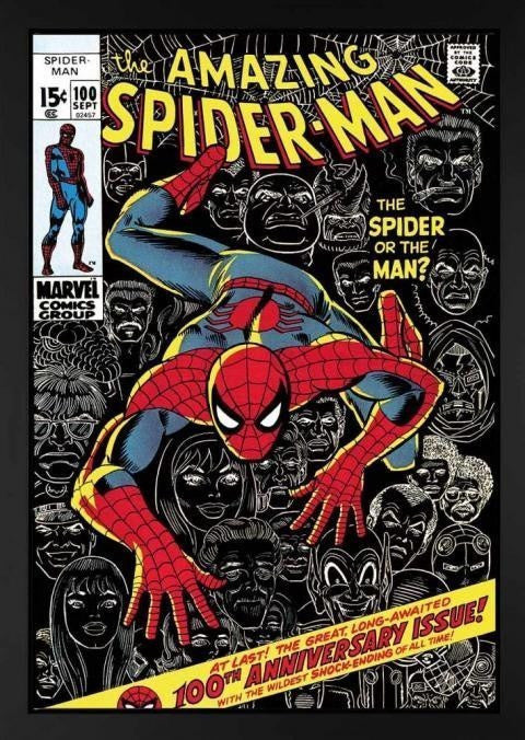 The Amazing Spider-Man #100 - The Spider Or The Man? Stan Lee