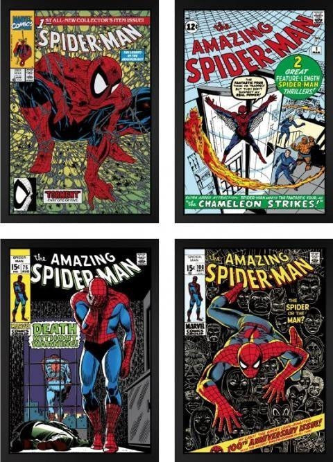 The Amazing Spider-Man Set of Four - SOLD Stan Lee