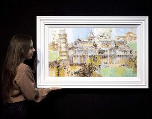 A Trip to the Pisa - Original Veronika Benoni Framed