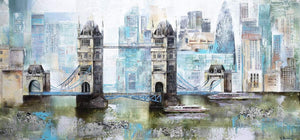 A View of Tower Bridge - Original Veronika Benoni Framed