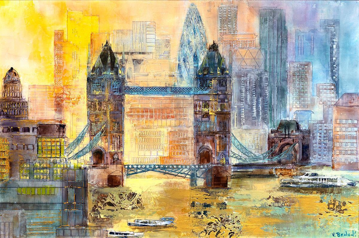 London Bridge Veronika Benoni Framed