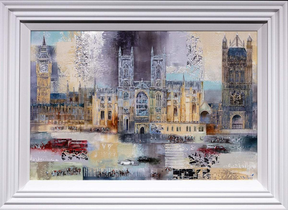 Passing Parliament - Original Veronika Benoni Framed