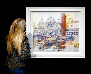 St Marks Square - Original Veronika Benoni Framed