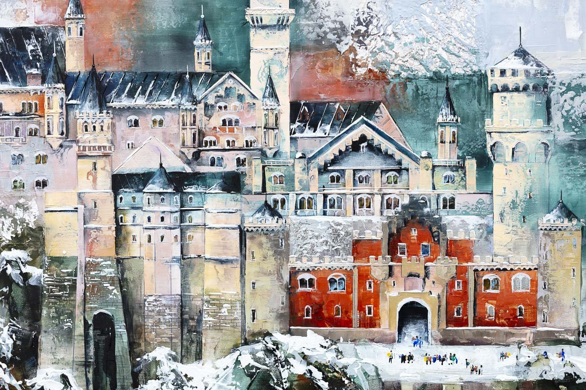 The Castle - Original Veronika Benoni Framed