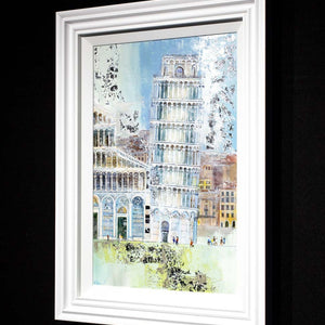 The Leaning Tower of Pisa - Original Veronika Benoni Framed