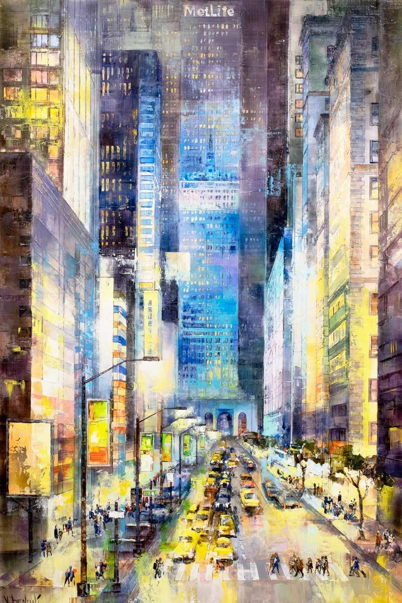 Times Square By Night Veronika Benoni Framed