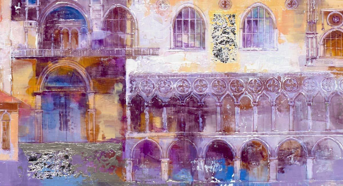 Venice At A Glance - Original Veronika Benoni Framed