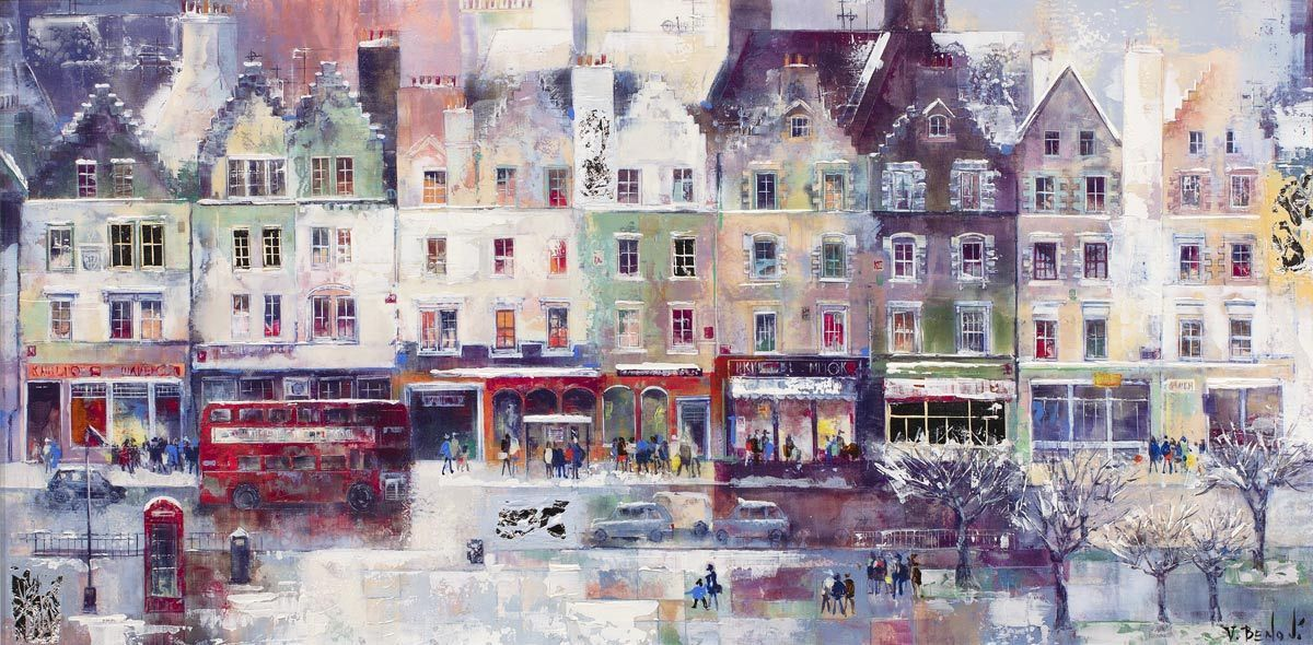 Winter Edinburgh - Original Veronika Benoni Framed