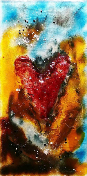 Glass Heart - SOLD Wyecliffe Gallery - Fine Art Original Paintings