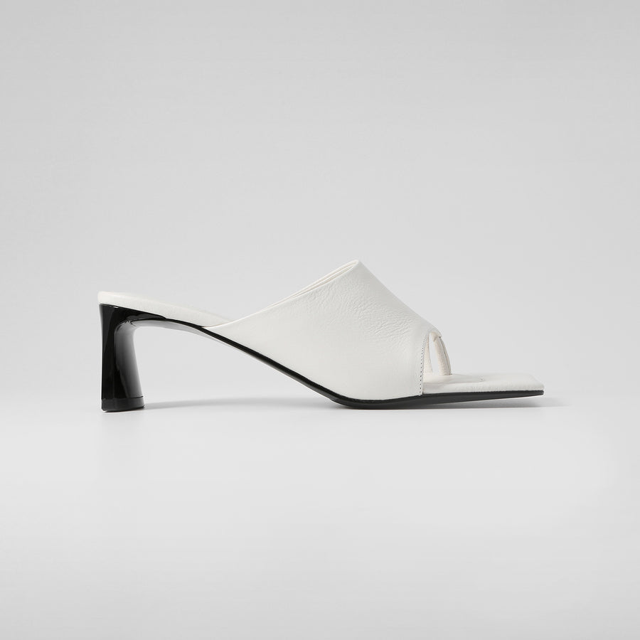 SORAYA Heeled Sandals - Smooth White