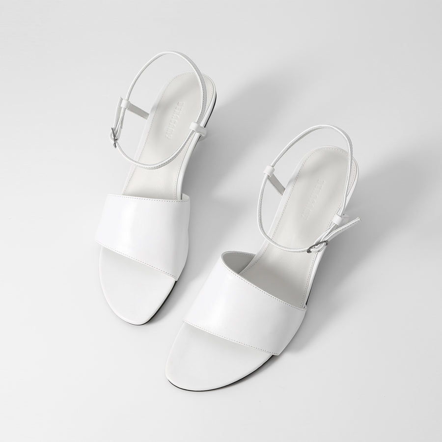 HANNA Heeled Sandals - Smooth White