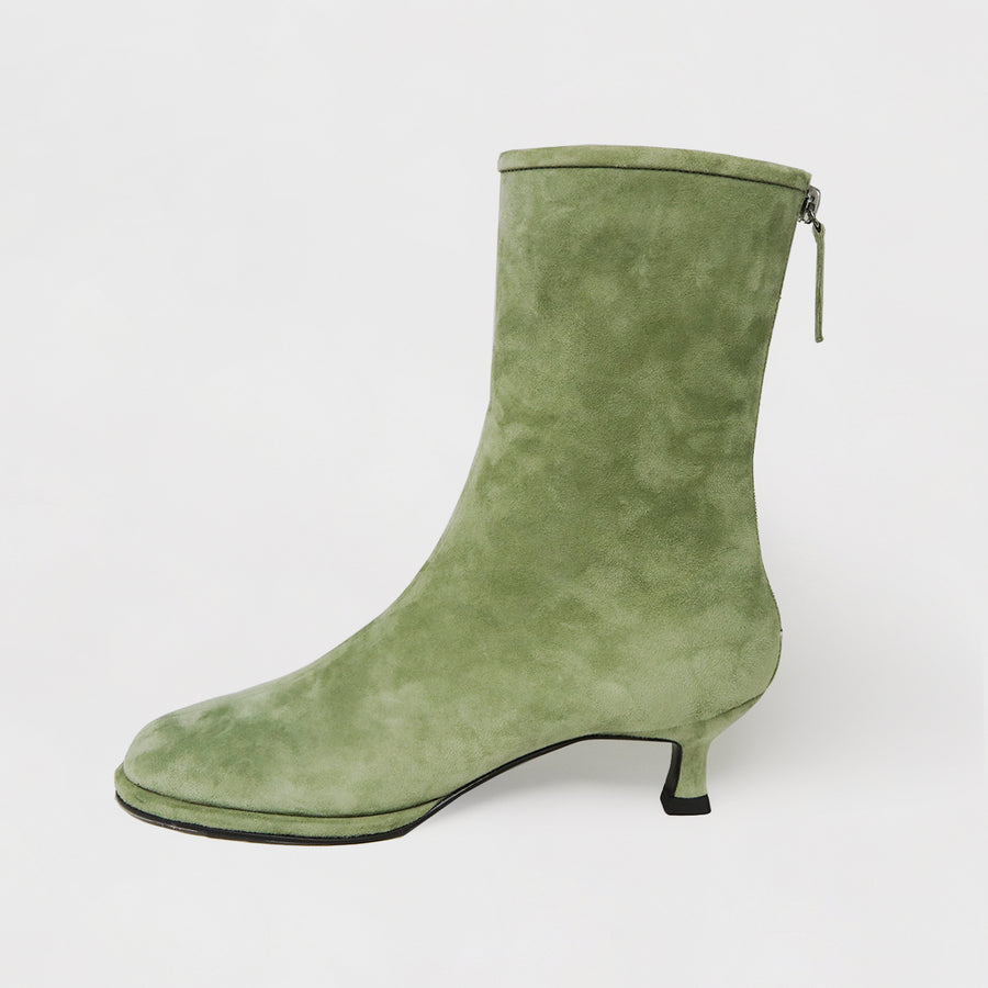 KIJOO Ankle Boots - Sueded Grass Green
