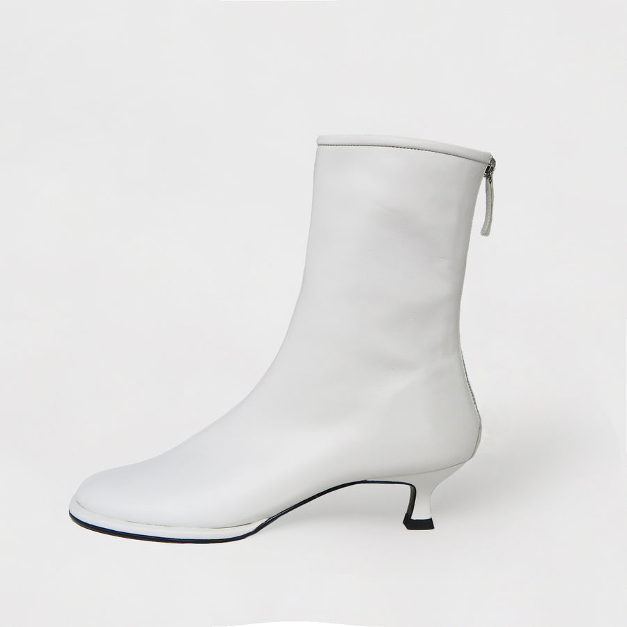 KIJOO Ankle Boots - Smooth Blanc