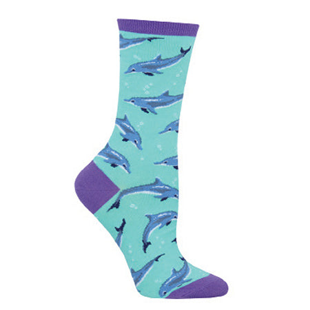 SOCKSMITH DOLPHINITELY MINT CREW SOCK
