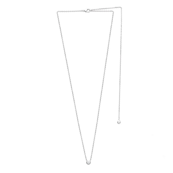 COLLIER LONG DIAMANT ARGENT