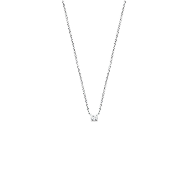 COLLIER DIAMANT ARGENT