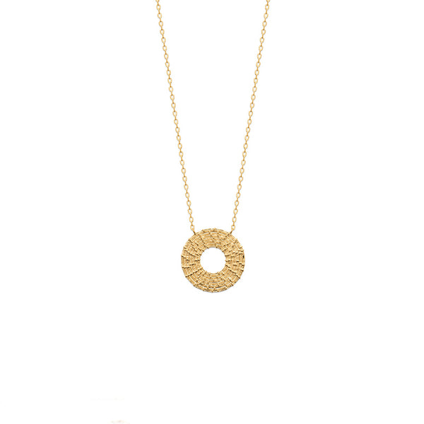 COLLIER ROND PLAQUE OR