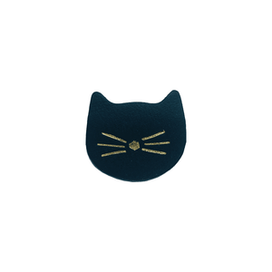 BROCHE CHAT CUIR