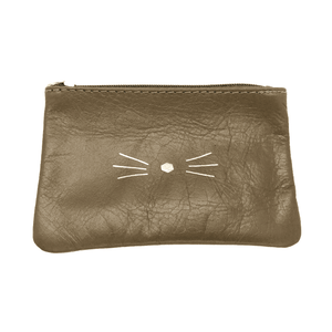 POCHETTE CHAT CUIR