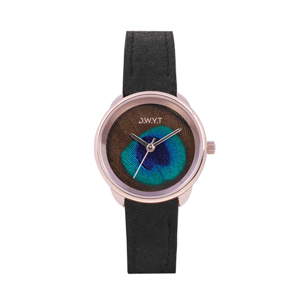 MONTRE PLUME ROSE GOLD
