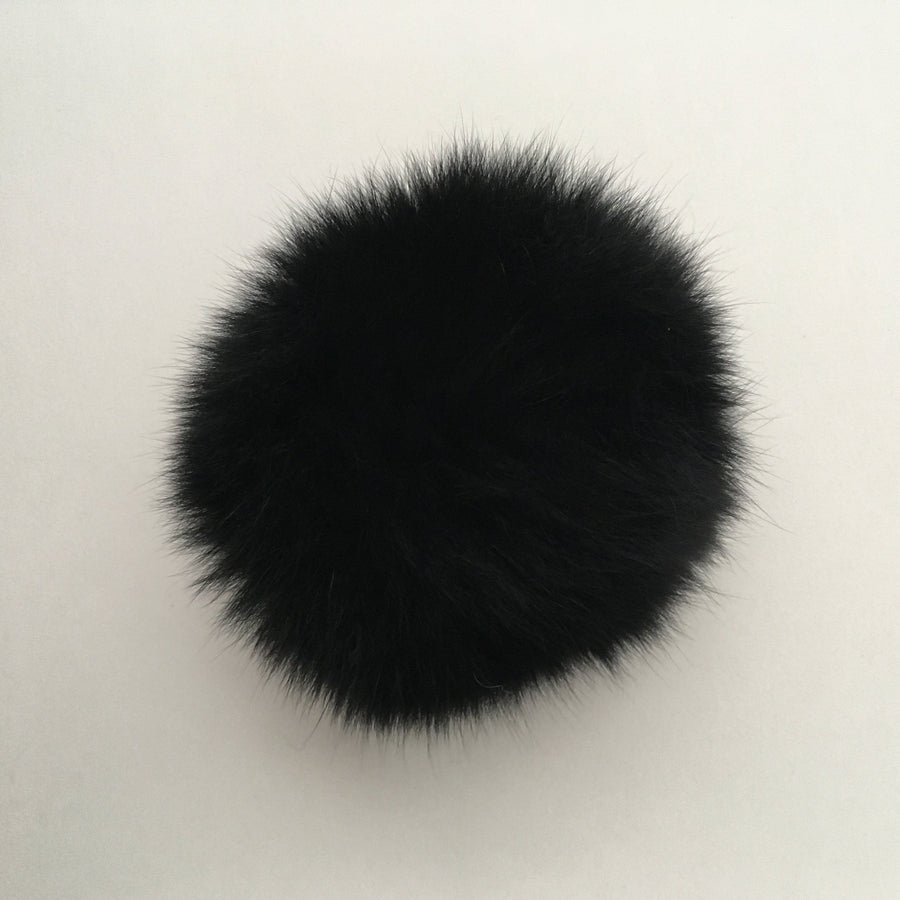 Pop-Up Fur Pom Carbon Black