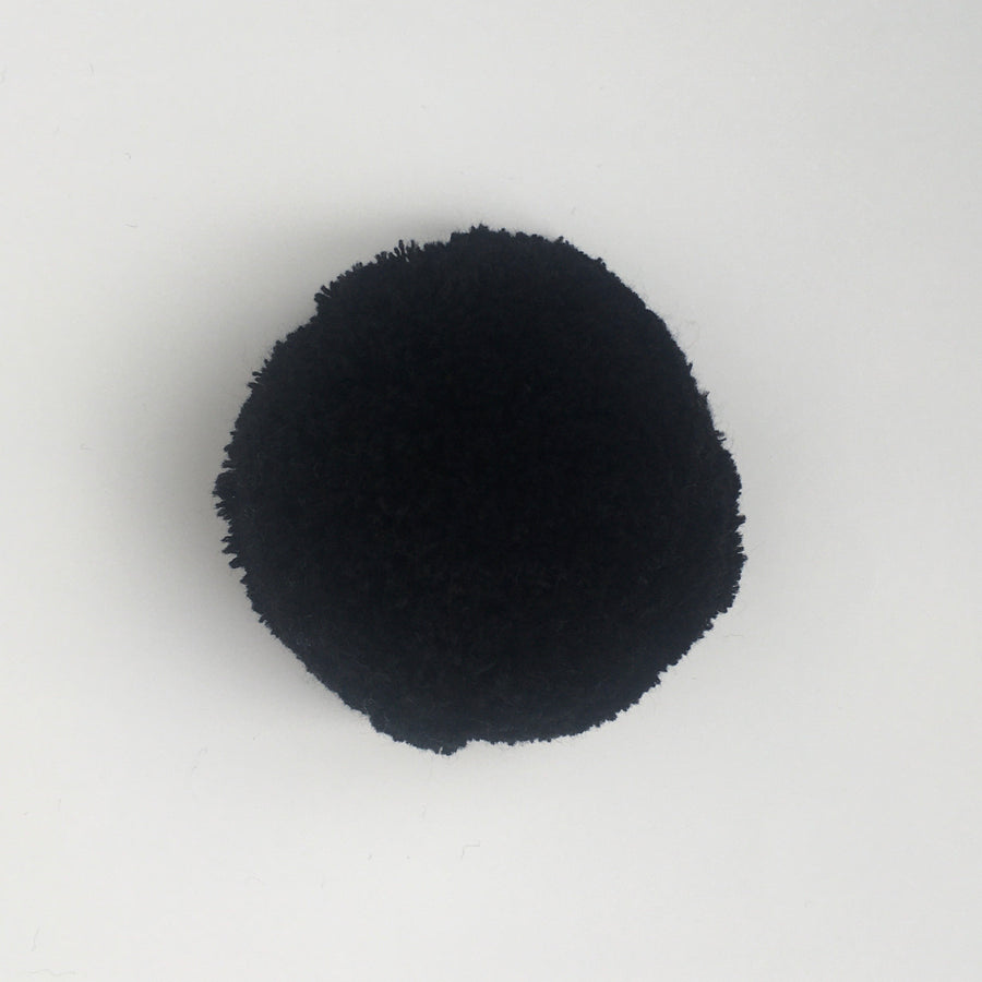 Knit Carbon Black Pompom