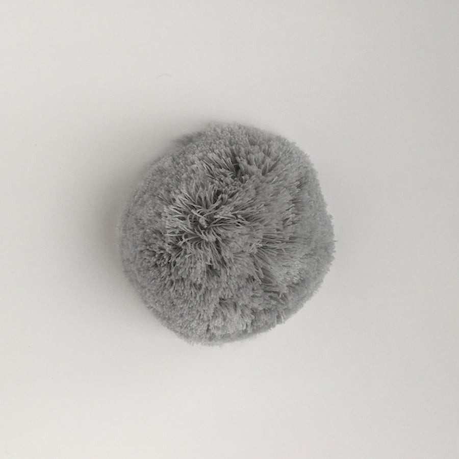 Knit Cool Grey Pompom