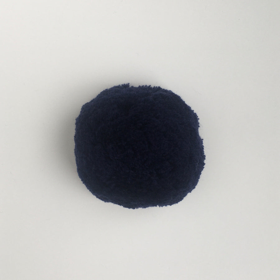 Knit Midnight Blue Pompom