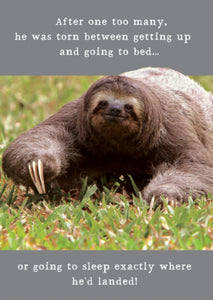 Lazy Sloth card