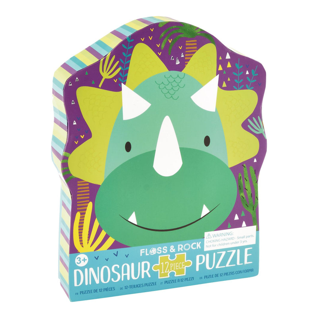 12 PIECE SHAPED JIGSAW IN SHAPED BOX - DINOSAUR