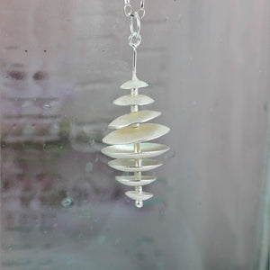 Topsy Turvy Sterling Silver Necklace