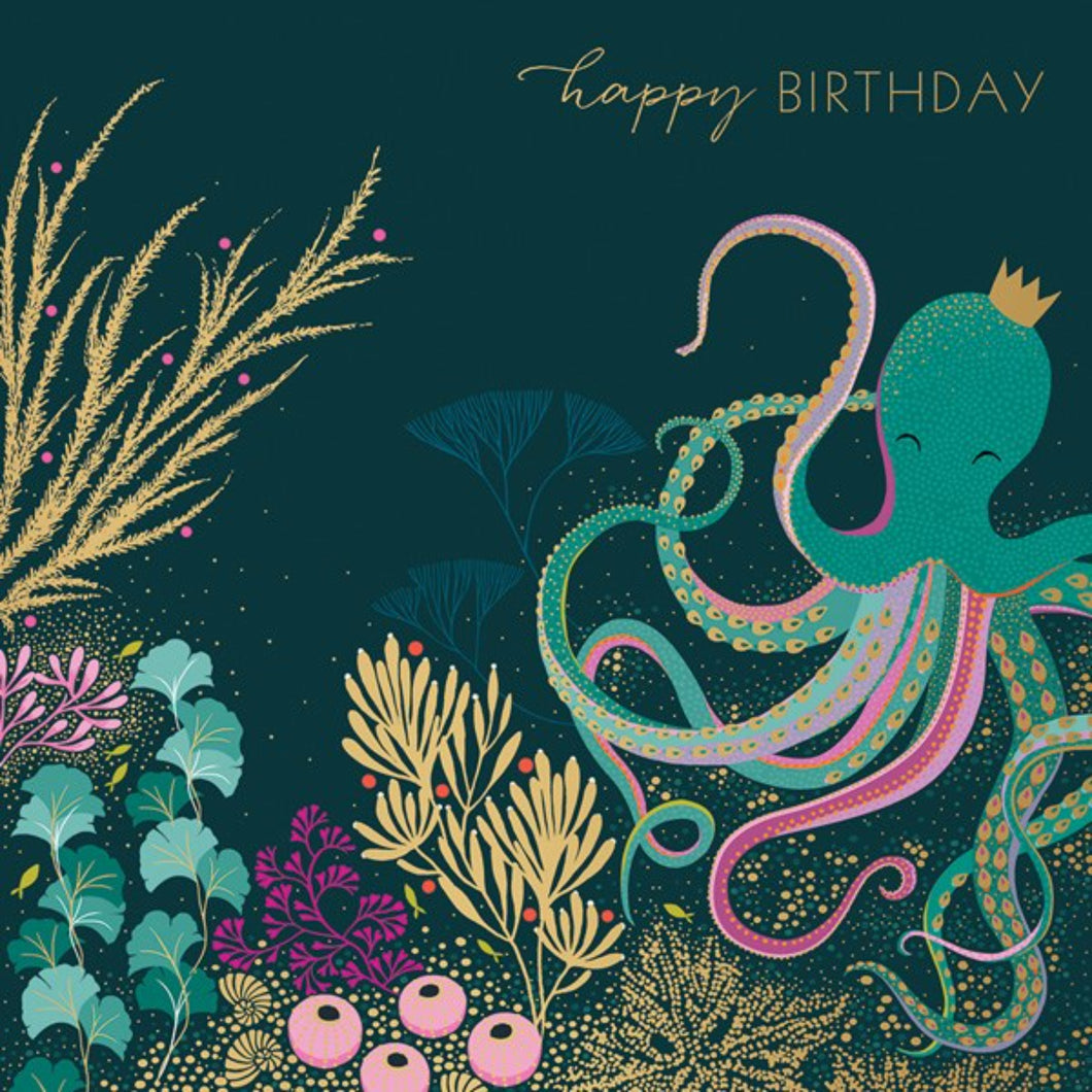 Octopus & Coral - Birthday Card