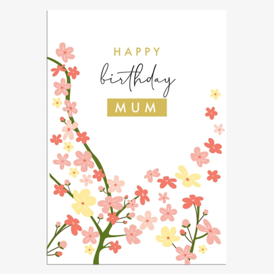 Flower Blossom Mum Birthday