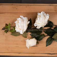 Load image into Gallery viewer, White Rose Spray Faux Flower