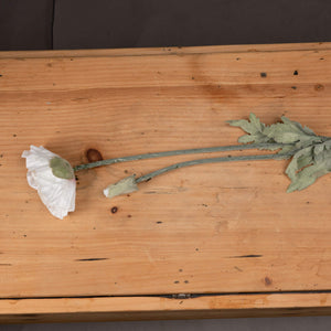 Heirloom Pepperbox Poppy Faux Flower