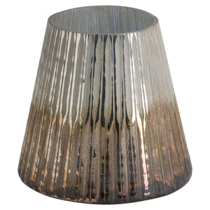Grey And Bronze Ombre Conical Candle Holder - Large