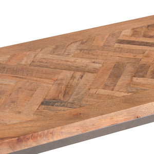 Hoxton Wooden Parquet Top Console Table