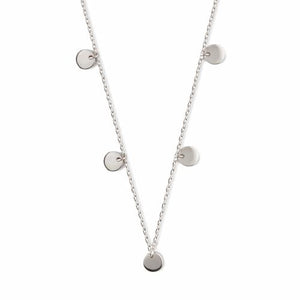 Disc Multi Drop Short Necklace