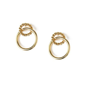 Rope Hoop Interlock Earring