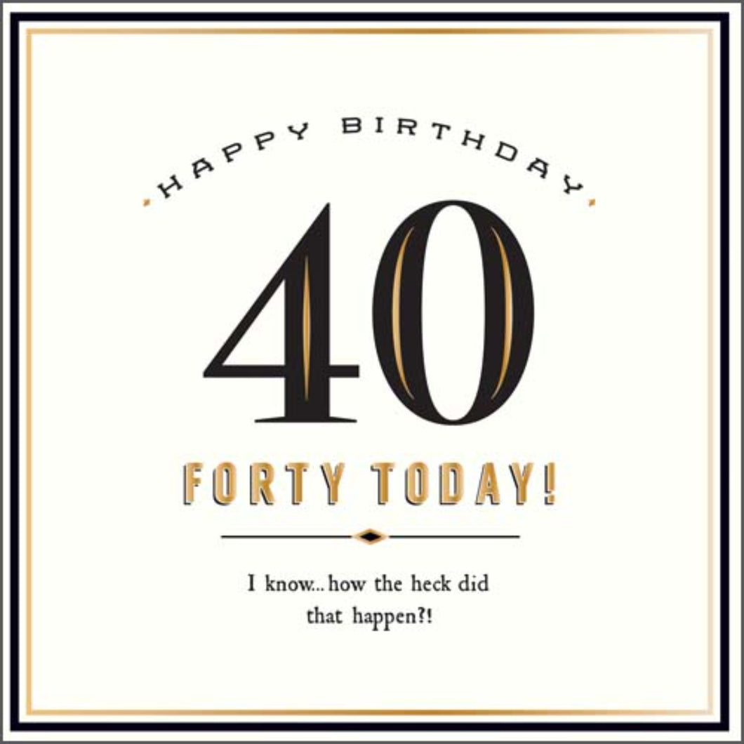 40 Today ! Birthday card