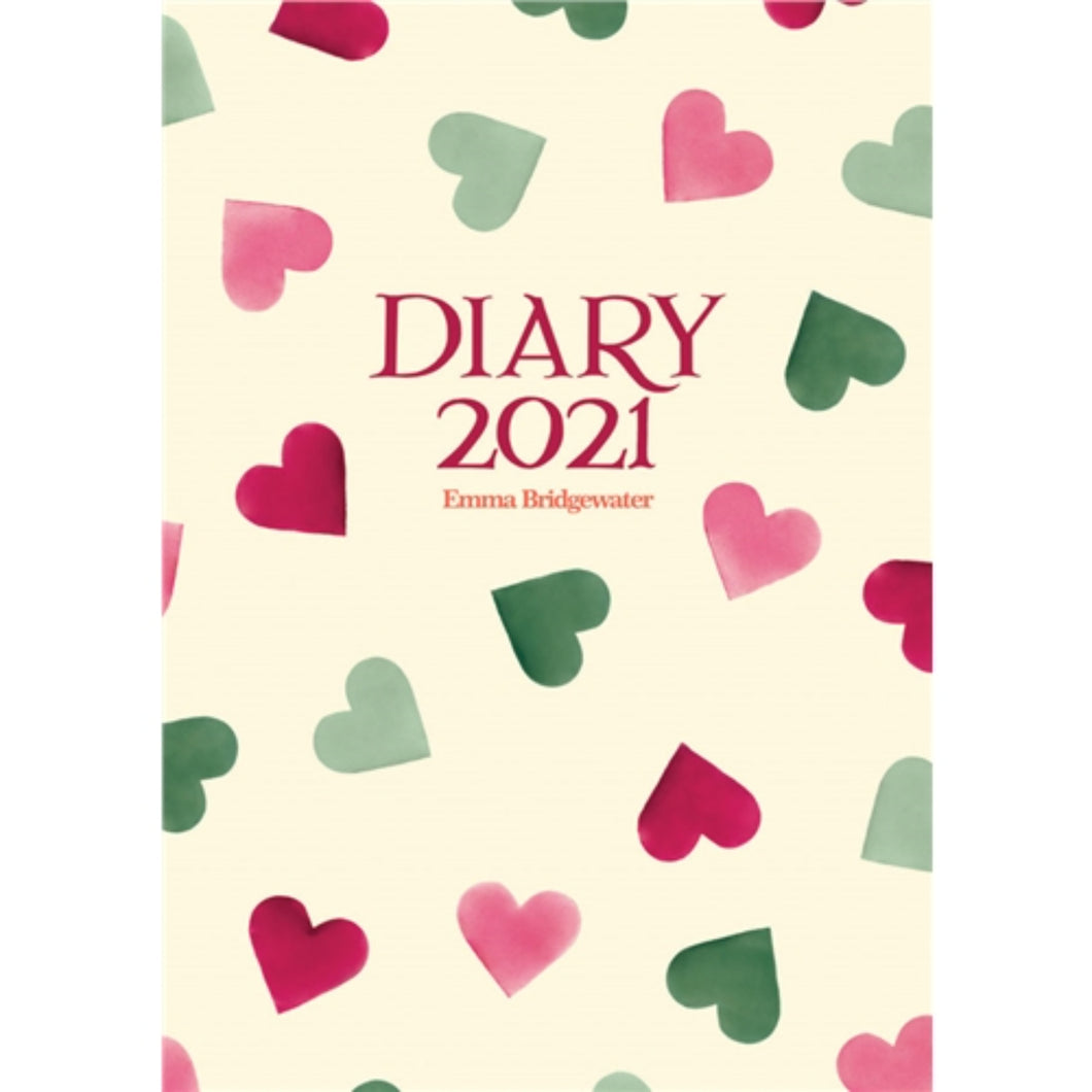 Emma Bridgewater Pink & Green Hearts A6 Diary 2021