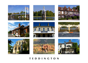 Montage of Teddington Greeting Card