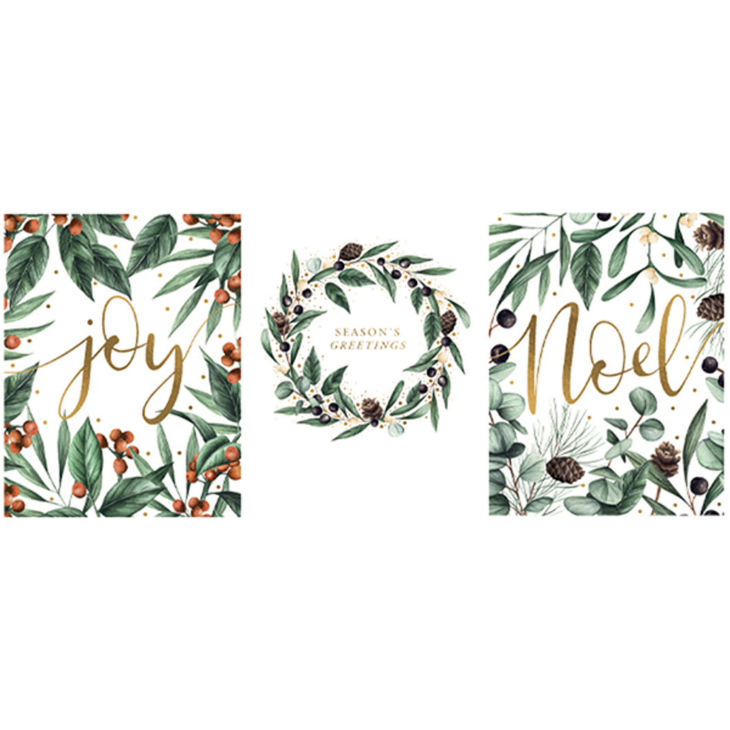 Frosted Botanics Pack of 12 Christmas Cards