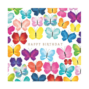 Colourful Butterflies - Birthday Card