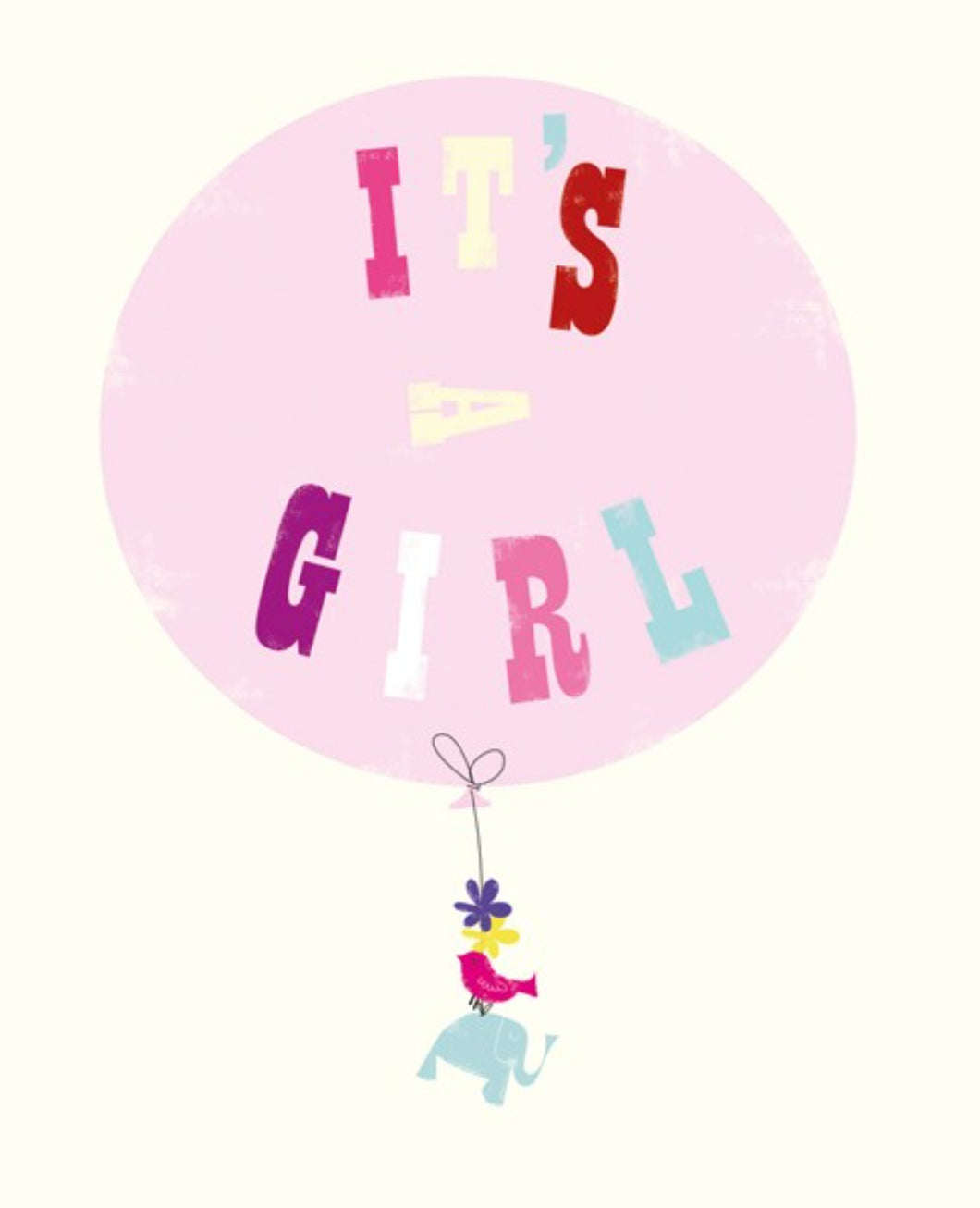 It's A Girl - Baby Card