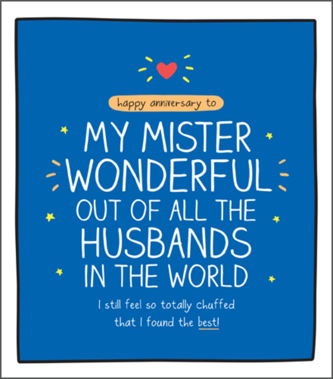 Wonderful Husband, Anniversary card
