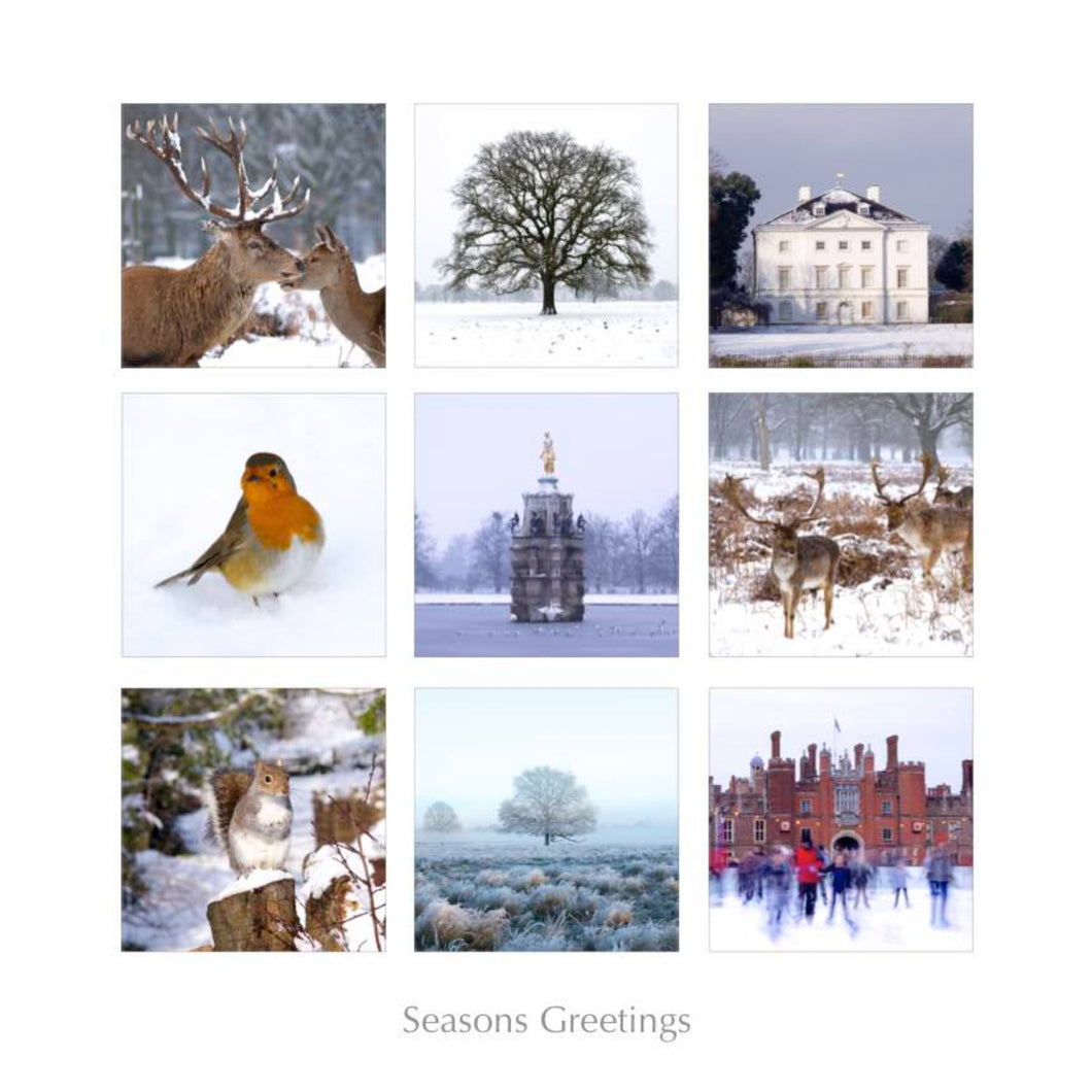 Winter Montage, London Borough of Richmond Greeting Card