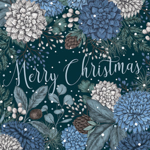 Sapphire & Snow Luxury Pack of 8 Christmas Cards